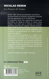 Les enquêtes du commissaire tron t.2 ; les fiancés de venise - 4ème de couverture - Format classique