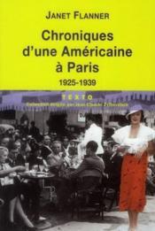 Chroniques d'une Americaine a Paris ;1925-1939