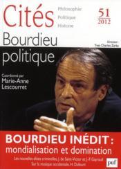 Revue Cites T.51 ; Bourdieu Politique - Couverture - Format classique