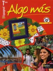ALGO MAS ; espagnol ; terminale ; manuel de l'élève - Couverture - Format classique