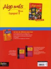 ALGO MAS ; espagnol ; terminale ; manuel de l'élève - 4ème de couverture - Format classique