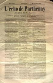 Echo De Parthenay (L') N°42 du 20/10/1867 - Couverture - Format classique