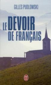 Le devoir de français - Couverture - Format classique