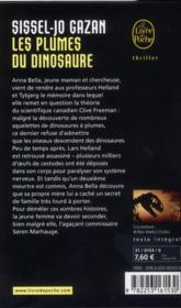 Les plumes du dinosaure - 4ème de couverture - Format classique