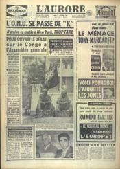 Aurore (L') N°4987 du 19/09/1960 - Couverture - Format classique
