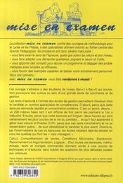 Les Tests D'Aptitude A L'Entree Des Ecoles De Gestion 2e Edition - 4ème de couverture - Format classique