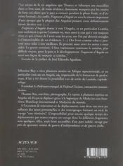 Fragments d'angola - 4ème de couverture - Format classique