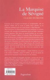 La marquise de sevigne - 4ème de couverture - Format classique
