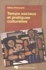 Temps sociaux et pratiques culturelles - Intérieur - Format classique