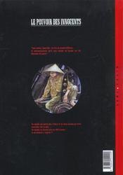 Le pouvoir des innocents t.5 ; sergent Logan - 4ème de couverture - Format classique
