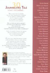 30 Journalistes Tele Vous Racontent - 4ème de couverture - Format classique