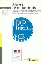 Analyse de contaminants organiques (herbicides, pcb, ocp, hap) dans les eaux estuairiennes et marines - Intérieur - Format classique