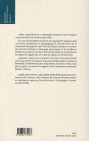 Cours de théologie morale t.1 ; morale fondamentale - 4ème de couverture - Format classique