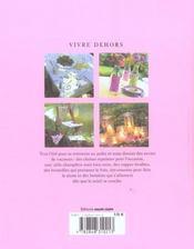 Vivre dehors, recevoir dans son jardin - 4ème de couverture - Format classique