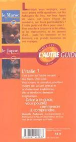 Guide Italie Des Italiens - 4ème de couverture - Format classique
