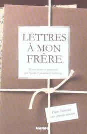 Lettres a mon frère - Intérieur - Format classique