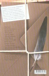 Lettres a mon frère - 4ème de couverture - Format classique