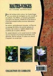 Hautes-Vosges - 4ème de couverture - Format classique