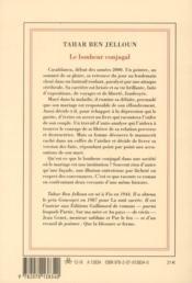 Le bonheur conjugal - 4ème de couverture - Format classique