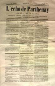 Echo De Parthenay (L') N°45 du 10/11/1867 - Couverture - Format classique