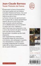 Toute l'histoire de France - 4ème de couverture - Format classique