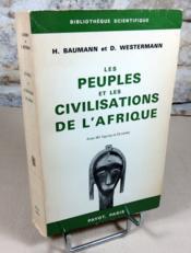Les peuples et les civilisations de l'Afrique. - Couverture - Format classique