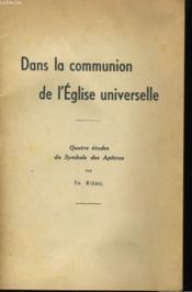 Dans La Communion De L'Eglise Universelle - Couverture - Format classique