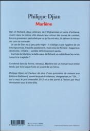 Marlène - 4ème de couverture - Format classique