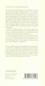 Narcisse Noir - 4ème de couverture - Format classique