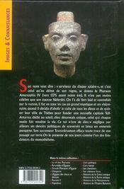 Akhenaton - 4ème de couverture - Format classique