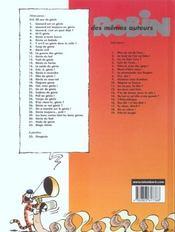 Léonard t.29 ; les bons contes font les bons génies - 4ème de couverture - Format classique