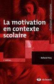 La motivation en contexte scolaire (6e édition) - Couverture - Format classique