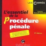 Essentiel De La Procedure Penale, 4eme Edition - Couverture - Format classique