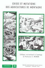 Crises et mutations des agricultures de montagne - Intérieur - Format classique