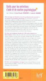 Outils Pour Les Entretiens D'Aide Et De Soutien Psychologique T.1 - 4ème de couverture - Format classique