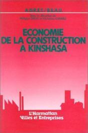 Économie de la construction à Kinshasa - Couverture - Format classique