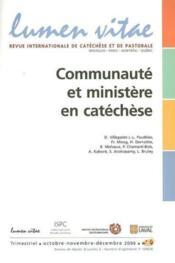 Communaute Et Ministeres En Catechese - Couverture - Format classique