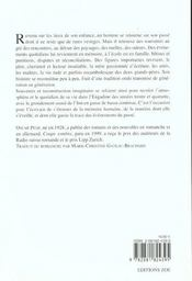 Rumeur Du Fleuve (La) - 4ème de couverture - Format classique