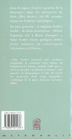 Fragments d'une chronique - 4ème de couverture - Format classique