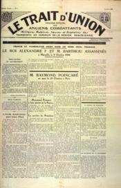 Trait D'Union (Le) N°7 du 01/10/1934 - Couverture - Format classique