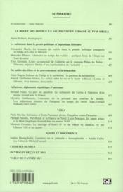 Revue Xviie Siecle N.256 - 4ème de couverture - Format classique