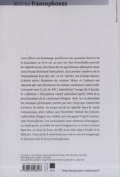 Louisiane La Theatralite Comme Force De Vie - 4ème de couverture - Format classique