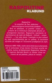 Raspoutine ; un roman-scénario - 4ème de couverture - Format classique