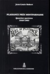 Plaisance Pres Montparnasse - Couverture - Format classique