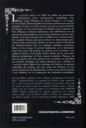 Plaisance Pres Montparnasse - 4ème de couverture - Format classique