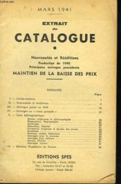 Extrait Du Catalogue. Nouveautes Et Reeditions. Production De 1940. - Couverture - Format classique