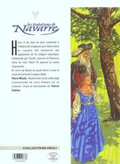 Les tentations de Navarre t.2 ; le roi lion - 4ème de couverture - Format classique