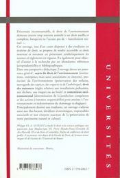 Droit De L'Environnement - 4ème de couverture - Format classique