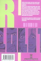 Lolita Hr T.2 ; Egérie - 4ème de couverture - Format classique