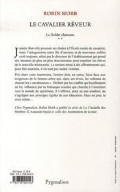 Le soldat Chamane t.2 ; le cavalier rêveur - 4ème de couverture - Format classique